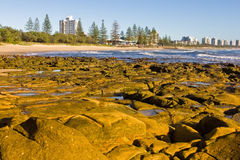 Rocky Headland - Sunshine Coast, Queensland, AU Stock Photography