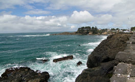 Rocky headlands and surf. Along the Oregon coast Royalty Free Stock Photography
