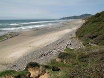 Rocky headlands and surf. Along the Oregon coast Royalty Free Stock Image