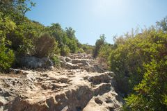 Hiking trail in Turkey royalty free stock photo