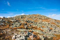 Rocky hill. A rocky hill at the top of Mount Washington Royalty Free Stock Photography