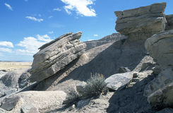 Rocky Hill. Rock Formation at Toadstool National Park in Nebraska Stock Photos
