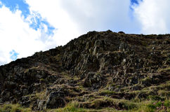 Rocky Hill Side at Arthur's Seat in Scotland Royalty Free Stock Photos
