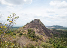 Rocky hill in Sri Lanka Royalty Free Stock Image