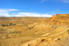 Rocky hill and valley at Negev desert in Israel. Royalty Free Stock Photos