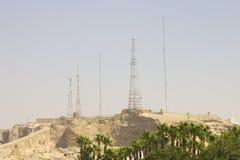 Rocky hills around cairo with antennae Stock Photography