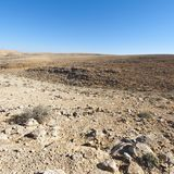 Stone Desert in Israel. Rocky hills of the Negev Desert in Israel. Breathtaking landscape of the desert rock formations in the Southern Israel Desert Stock Photos