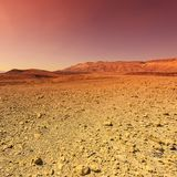 Middle East at sunset. Rocky hills of the Negev Desert in Israel. Breathtaking landscape and nature of the Middle East at sunset royalty free stock photography
