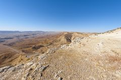Stone Desert in Israel Stock Photography