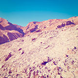 Rocky Hills. Of the Negev Desert in Israel, Instagram Effect Stock Images
