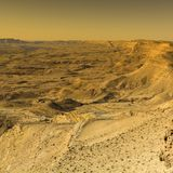 Desert in Israel at sunrise Royalty Free Stock Images