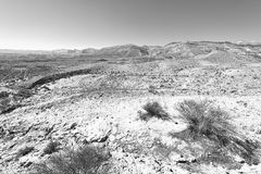 Rocky hills of the Negev Desert in Israel. Stock Image