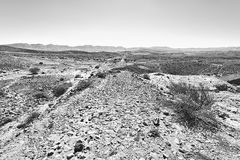 Rocky hills of the Negev Desert in Israel. Royalty Free Stock Photography