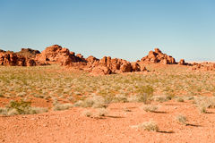 Rocky hills in Valley of Fire Royalty Free Stock Image