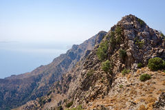 Rocky hillside on the island of Kos Royalty Free Stock Images