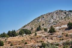 Rocky hillside on the island of Kos Stock Photo
