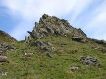 Rocky Hilltop bij Glenshee-Vallei, Grampian-Bergen, Schotland royalty-vrije stock foto's