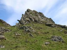 Rocky Hilltop no vale de Glenshee, montanhas de Grampian, Escócia fotos de stock royalty free