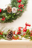 Rocky Horse Christmas ed agrifoglio III Immagine Stock Libera da Diritti