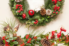 Rocky Horse Christmas and Holly II Royalty Free Stock Image