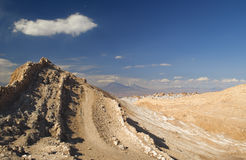 Moon Valley at San Pedro the Atacama. On tour to the moon valley is a must see when travelling to San Pedro the Atacama stock photography