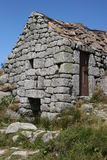 Rocky house. A rocky house lost in a hamlet in france Royalty Free Stock Photo