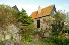 Rocky house on Christianso. royalty free stock photo