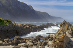 Rocky inlets at Storms River, Tsitsikamma region of South Africa Stock Image