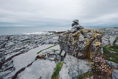 Rocky Irish Coast, Doolin. Rocky coast in western Ireland Royalty Free Stock Image