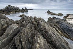 Rocky Irish coastline in Nort Ireland Stock Photo