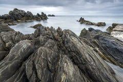 Rocky Irish coastline in Nort Ireland Stock Photo