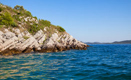 Rocky island in the Adriatic Royalty Free Stock Images