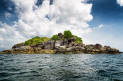 Rocky island in Andaman sea Stock Photos