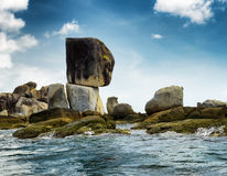 Rocky island in Andaman sea Royalty Free Stock Image