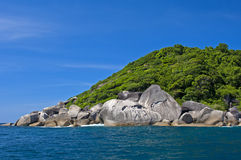 Rocky island  in the Andaman Sea, Thailand Royalty Free Stock Images