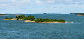 Rocky island in Baltic Sea Royalty Free Stock Image