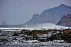 Rocky island coast Stock Photography
