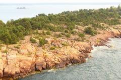 Rocky island royalty free stock photography
