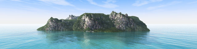 Rocky island in the ocean Royalty Free Stock Image