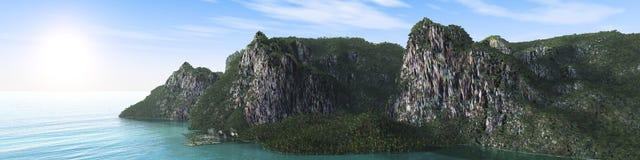 Rocky island in the ocean Stock Photo