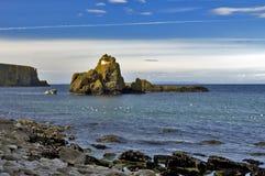 Rocky Island och fårö den Antrim kusten royaltyfria foton