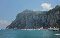 Rocky island resort. Capri, Italy stock images