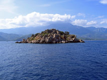 Rocky island. Small Mediterranean rocky island in Turkey Stock Images