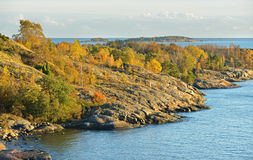 Rocky islands in Helsinki archipelago in Baltic Sea Stock Image