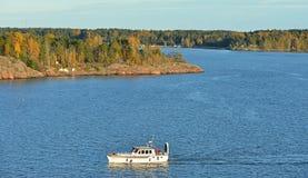 Rocky islands in Helsinki archipelago. In Finland Royalty Free Stock Photography