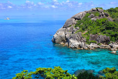 Rocky islands at tropical sea Stock Photography