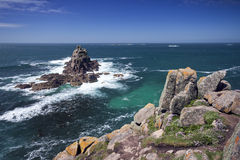 Rocky Isles Off Land's End stock photography