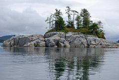 Rocky Islet in the North Pacific Royalty Free Stock Photos