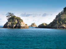 Rocky islets in Hauraki Gulf Royalty Free Stock Images