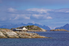 Rocky islets in Norway Stock Images